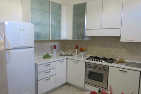 Cucina dell'appartamento Bianco